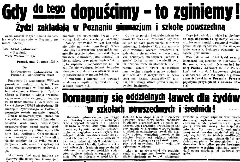 Pod_Pręgierz,_1937_r._Gdy_do_tego_dopuścimy,_to_zginiemy